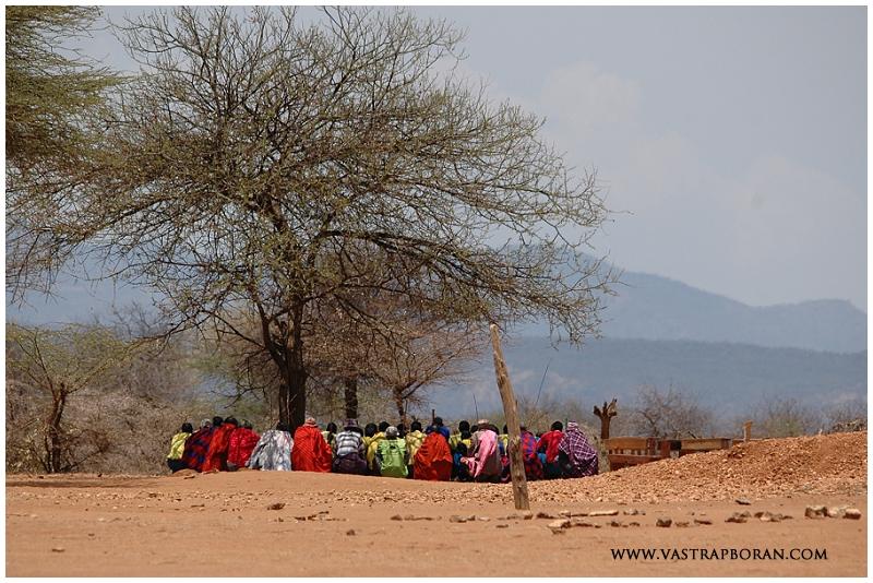 Samburu elders meeting.