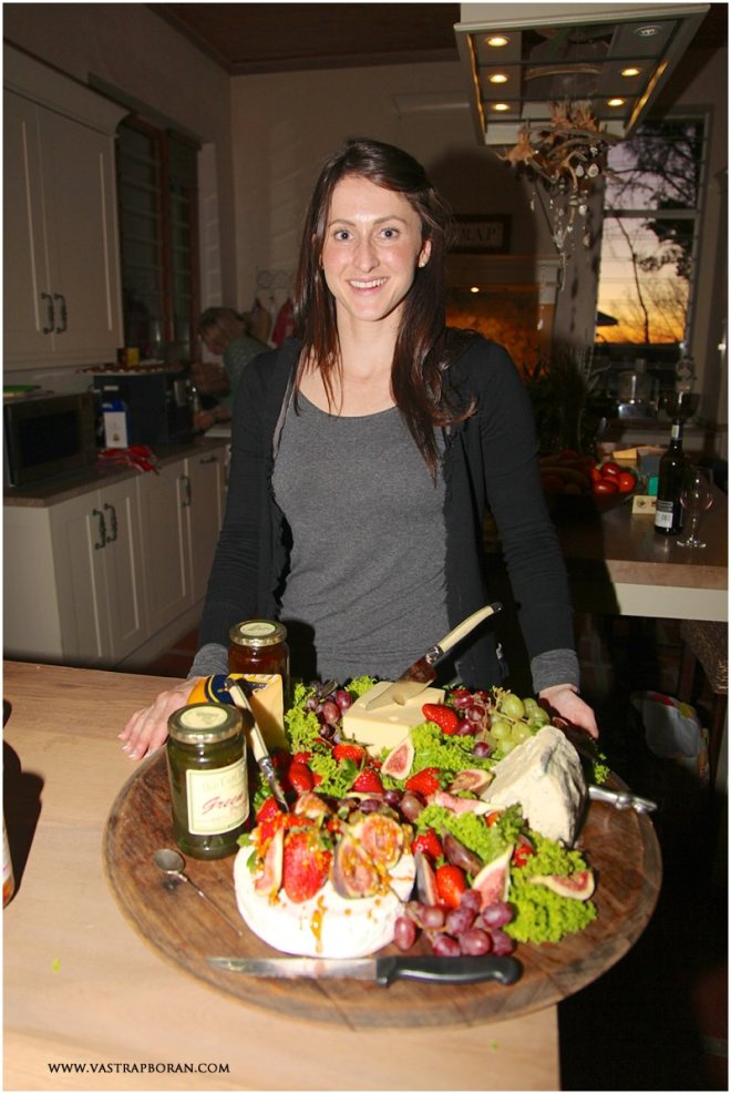 Hayley Breytenbach from Brenaissance Stud with her decadent cheese board.