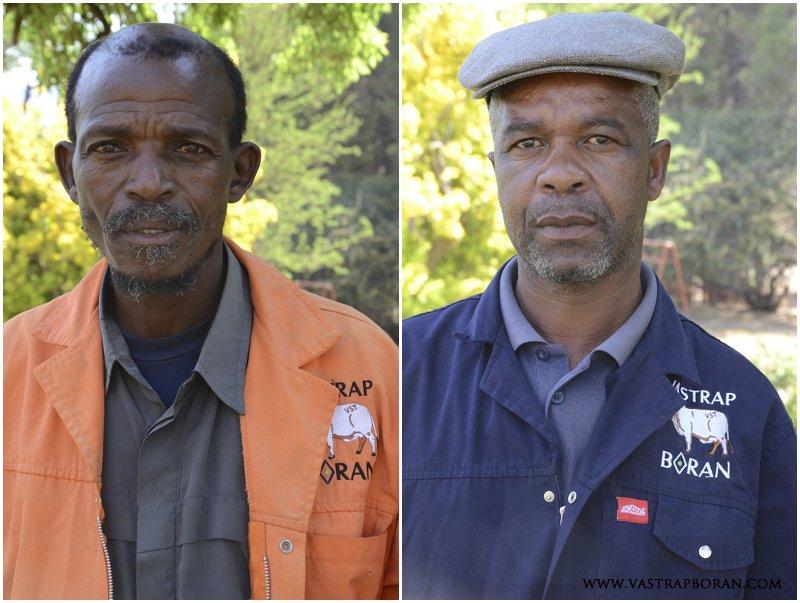Mpina Abram Khatlako (Livestock Supervisor) & Tsokolo Francis Koetle (Mechanisation Supervisor)