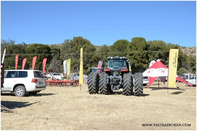 Quentin's new Massey Ferguson tractor - the performance of the tractor and service from OVK their new agent in the Eastern Free State has been magnificent!